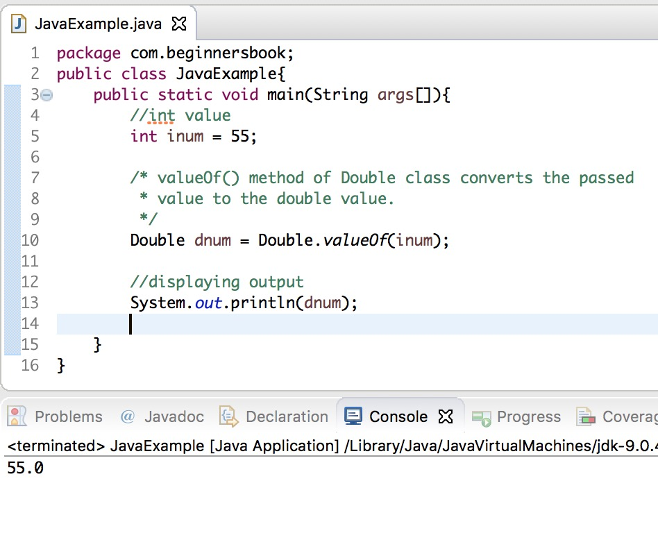 Convert int to double in Java using Double wrapper class