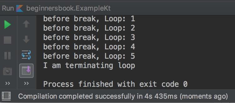 Kotlin break example