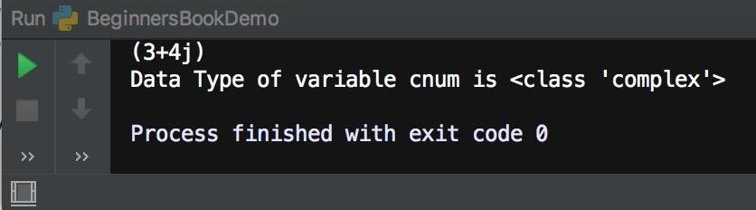 Python data type complex number