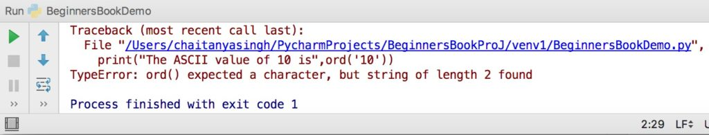 Python ord() function with examples