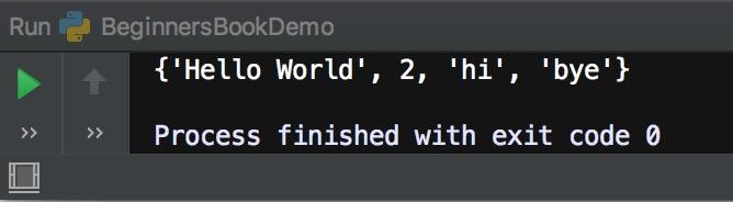 Python set example