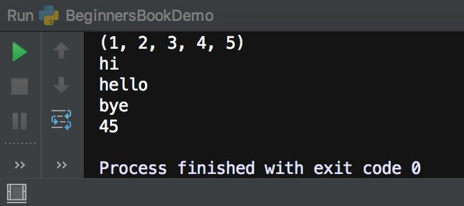 Python tuple data type
