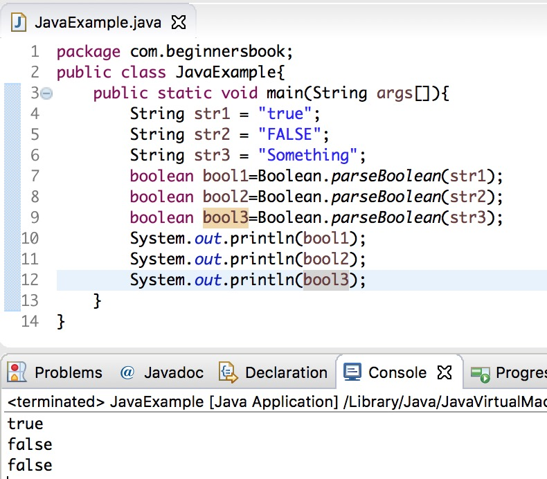 Java String to Boolean conversion
