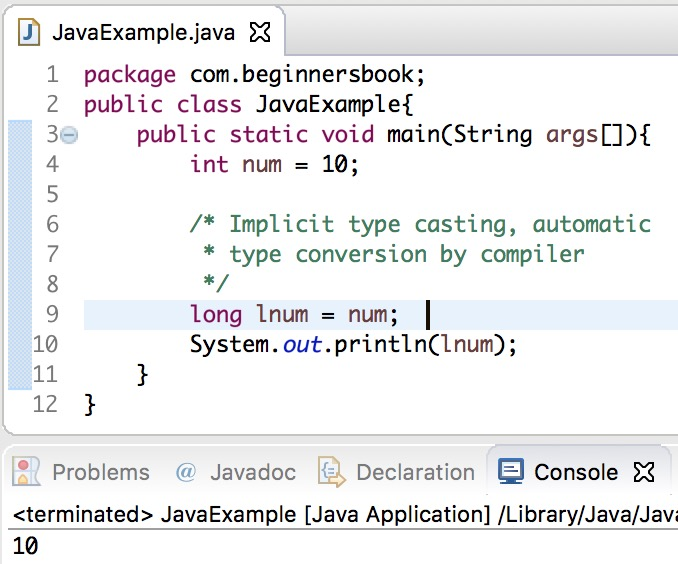 Java int to long conversion