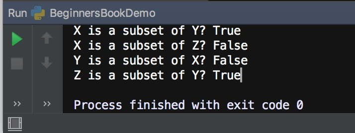 Python issubset() method example