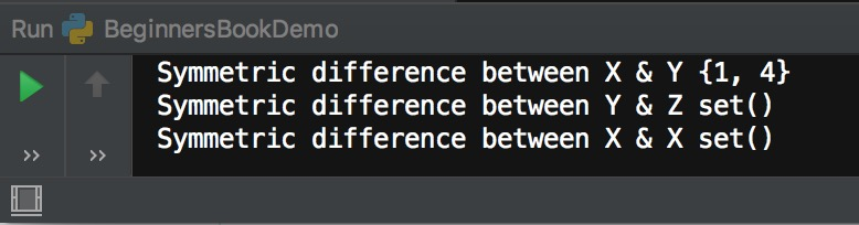 Python symmetric_difference() method example