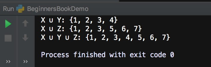 Python union() method example