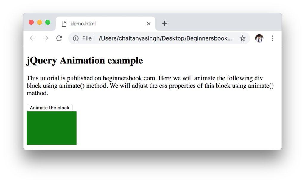 jQuery animate using relative values