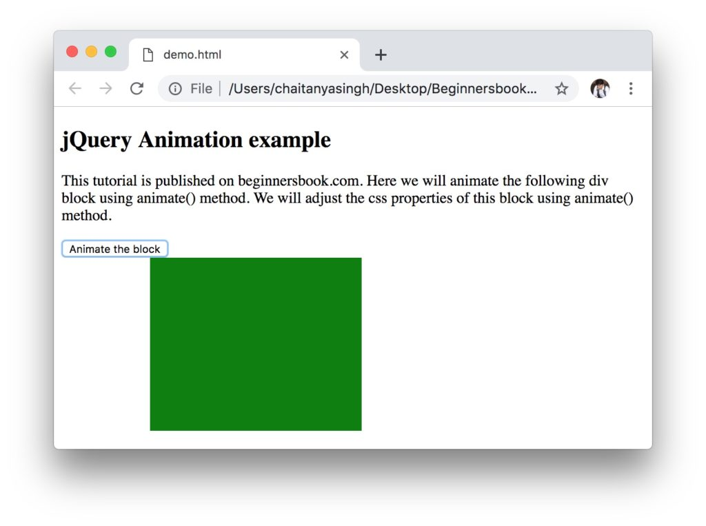 jQuery animate() method relative values