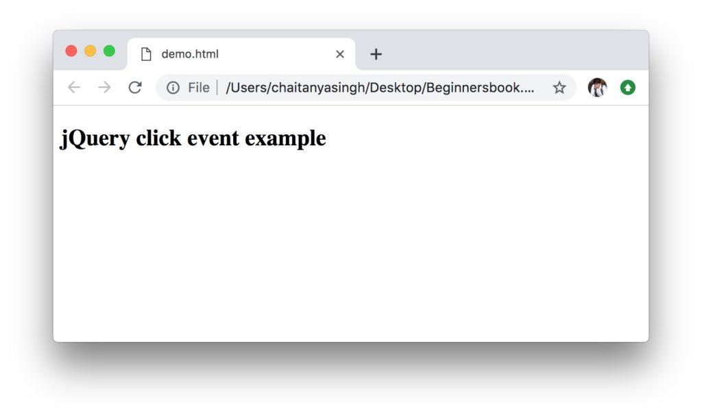 jQuery click event