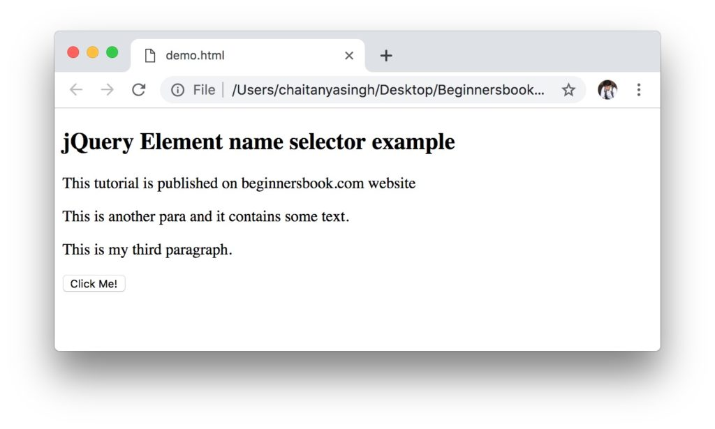 jQuery Element name class selector
