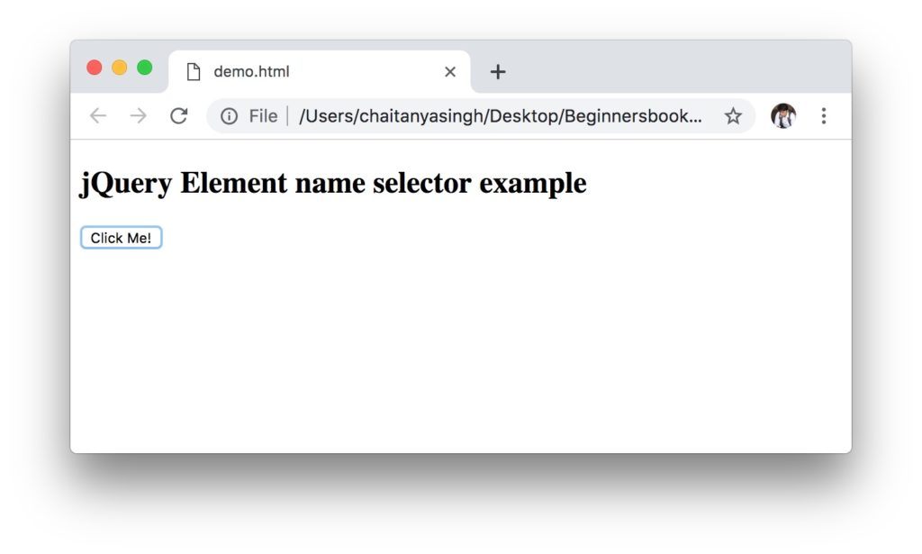 jQuery element selector output
