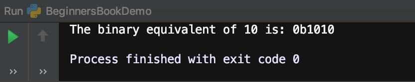 Python bin function example