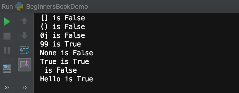 Python bool function example