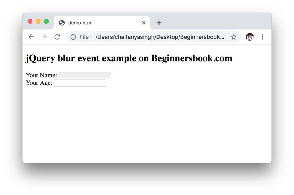 jQuery blur event