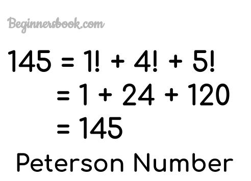 Peterson Number